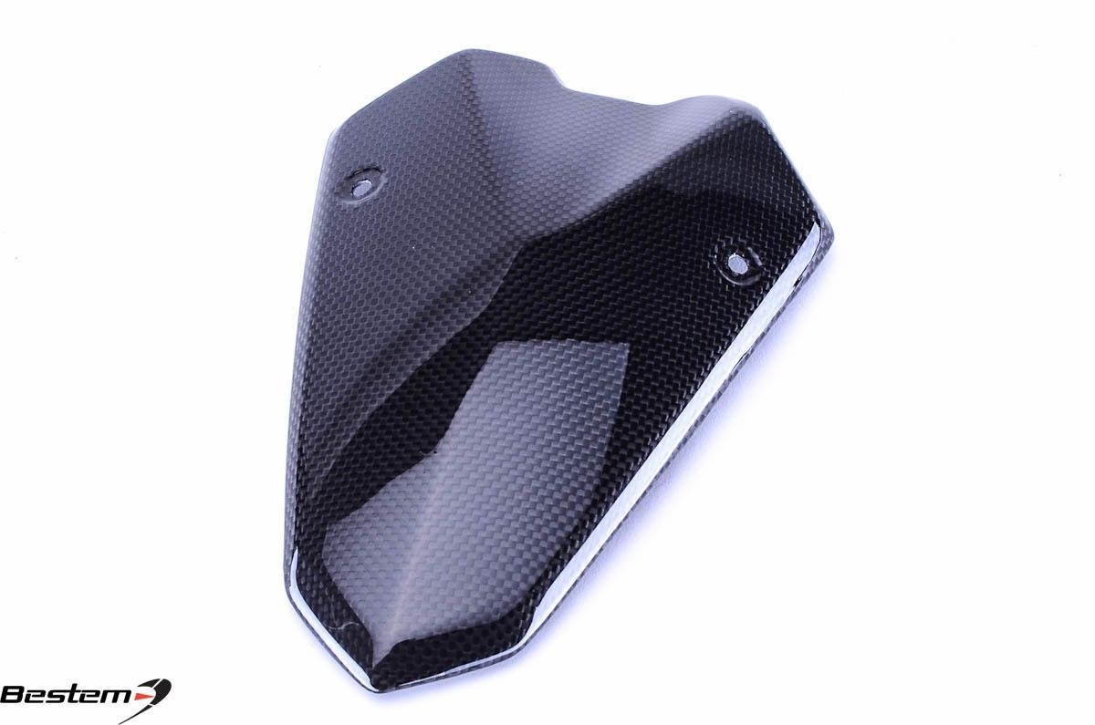USバイク フェンダー カウル kawasaki Kawasaki Z1000 2014 - 2016カーボンファイバーフロントライトヘッドライトカウルトップフェアリングPa Kawasaki Z1000 2014 - 2016 Carbon Fiber Windscreen Headlight Cowl Top Fairing Pa
