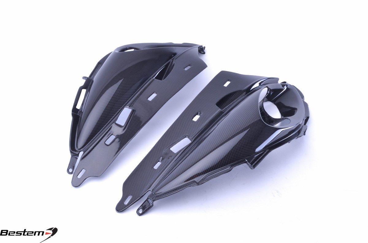 USバイク フェンダー カウル suzuki スズキGSX1300Rはやぶさ2008 - 2017炭素繊維アッパーフェアリングセンター Suzuki GSX1300R Hayabusa 2008 - 2017 Carbon Fiber Upper Fairing Center