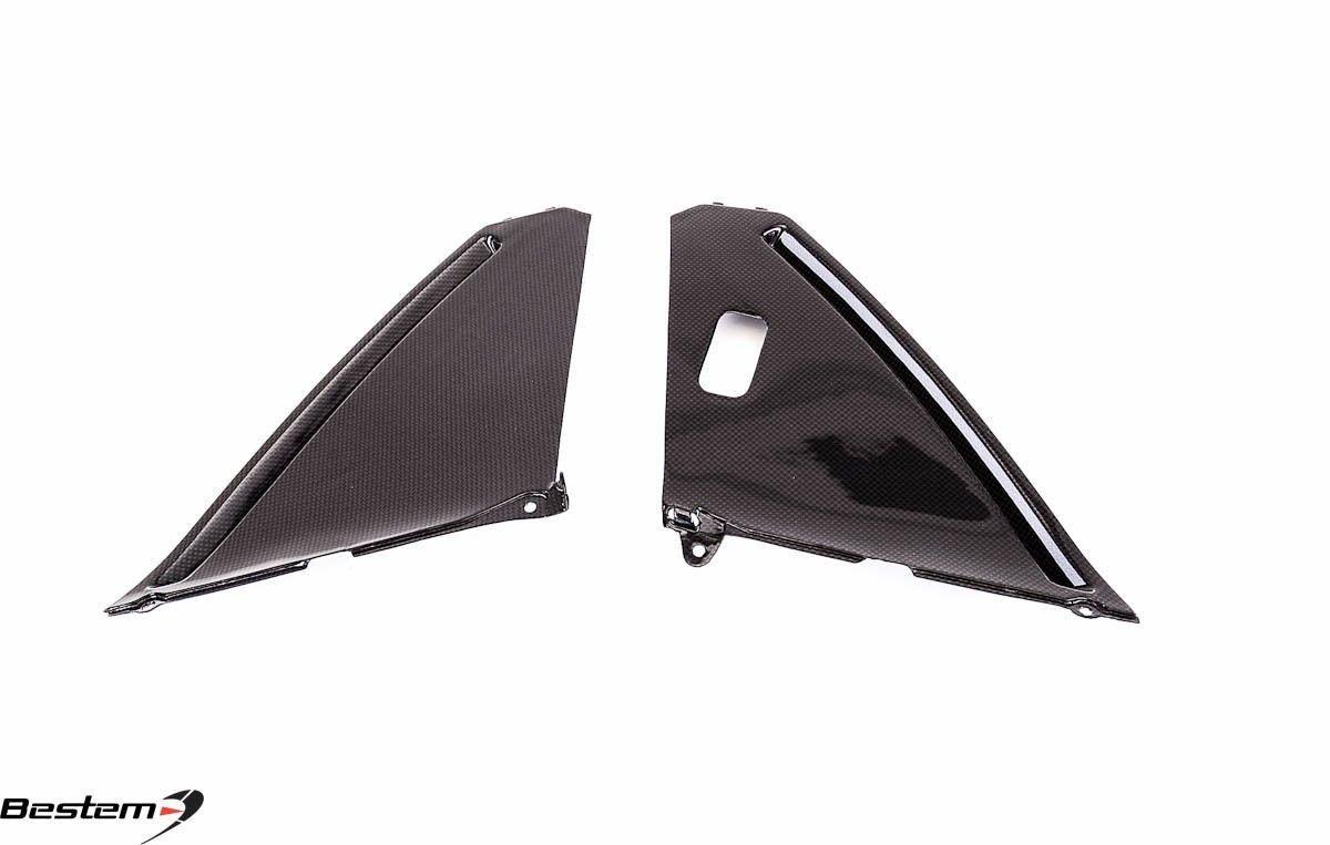USバイク フェンダー カウル suzuki スズキGSXR 1300 Hayabusa 2008 - 2017カーボンファイバーサイドパネルがフェアリングをカバー Suzuki GSXR 1300 Hayabusa 2008 - 2017 Carbon Fiber Side Panels Covers Fairings