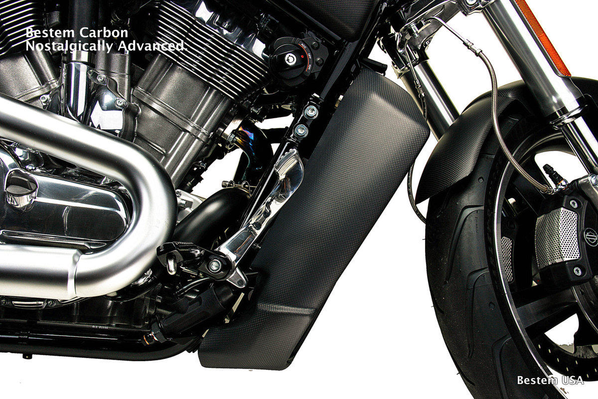 リアフェンダ V-ROD ハーレーダビッドソンV-ロッドマッスルカーボンファイバーラジエータースポイラーサイドパネル、マット Harley Davidson V-Rod Muscle Carbon Fiber Radiator Spoiler Side Panels , Matte