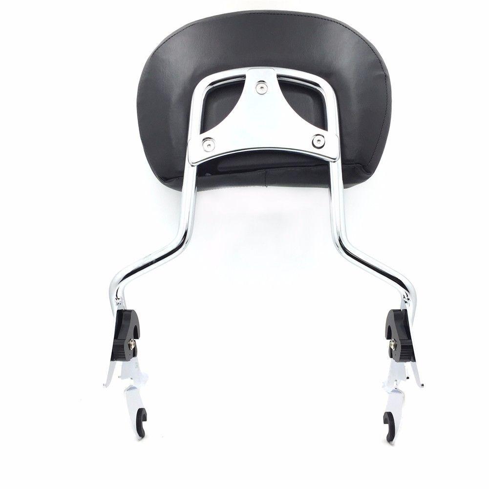 バックレスト 調整可能なクロームバックレストシシーバー/ハーレーツーリングFLHR-ロードキングのためのパッド付き Adjustable Chrome Backrest Sissy Bar w/ pad For Harley Touring FLHR- Road King