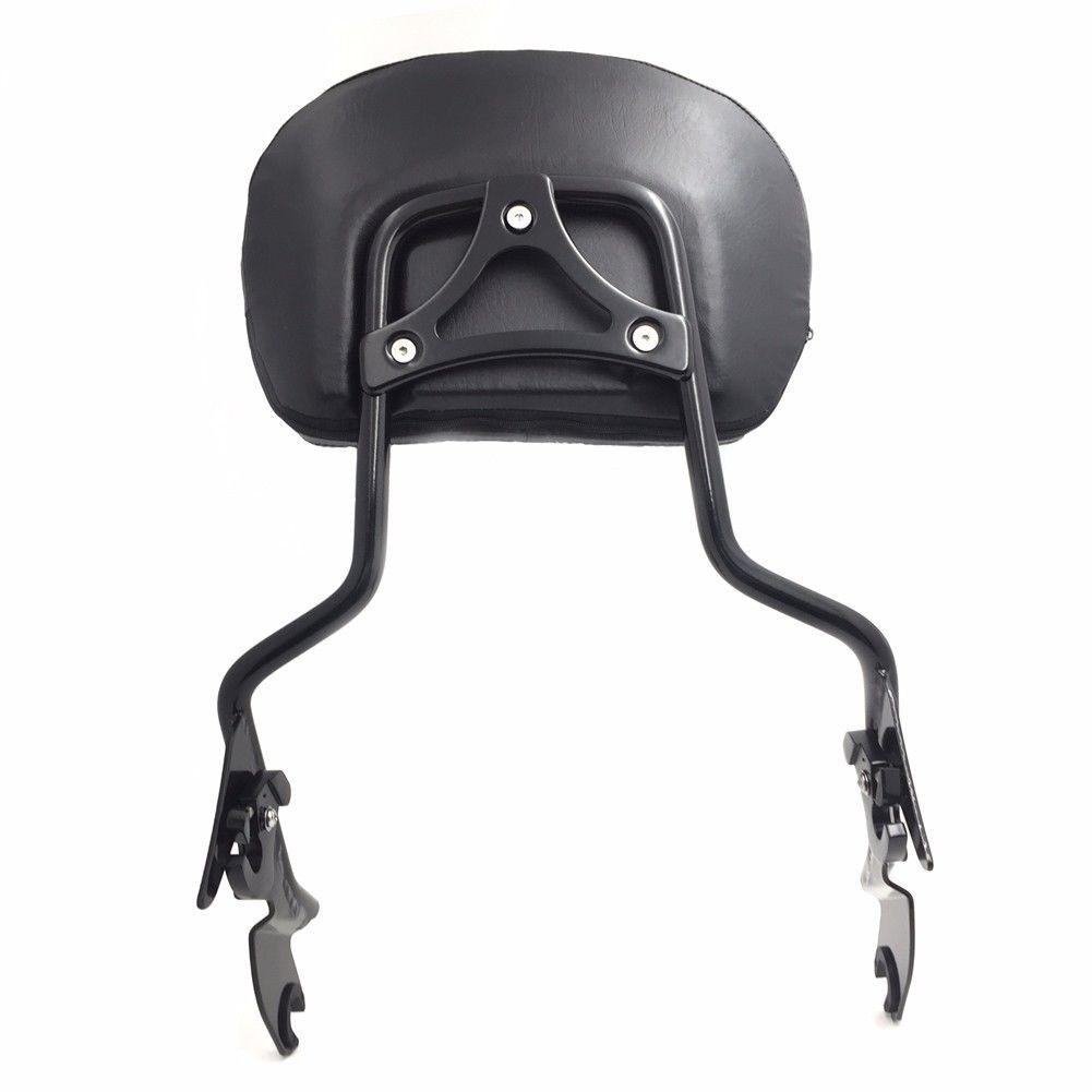 バックレスト ハーレーエレクトラグライド/ CVOグロスブラック用の調節可能な背もたれシシーバー/パッド Adjustable Backrest Sissy Bar w/ pad For Harley Electra Glide/ CVO Gloss Black