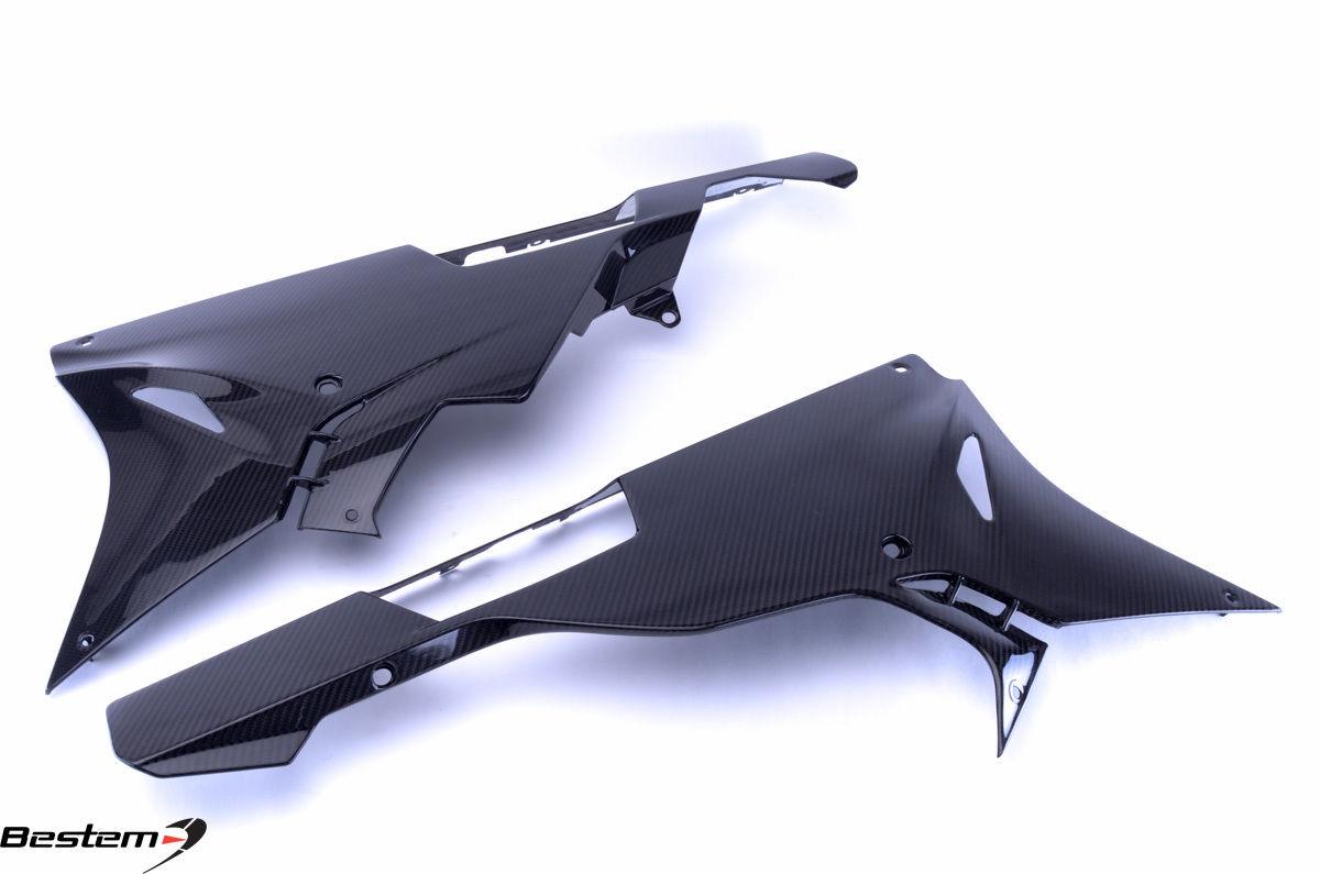 USバイク フェンダー カウル BMW 2015 2016 BMW S1000RR下部ベリーフェアリング100%炭素繊維、ツイル 2015 2016 BMW S1000RR Lower Belly Pan Fairings 100% Carbon Fiber, Twill