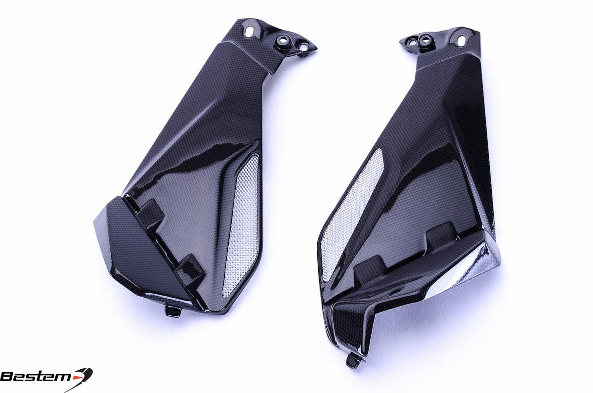 USバイク フェンダー カウル BMW 2013 - 2016 BMW R1200GS R1200 GSカーボンファイバーニーフェアリングがパネルを挿入 2013 - 2016 BMW R1200GS R1200 GS Carbon Fiber Knee Fairings Inserts Panels