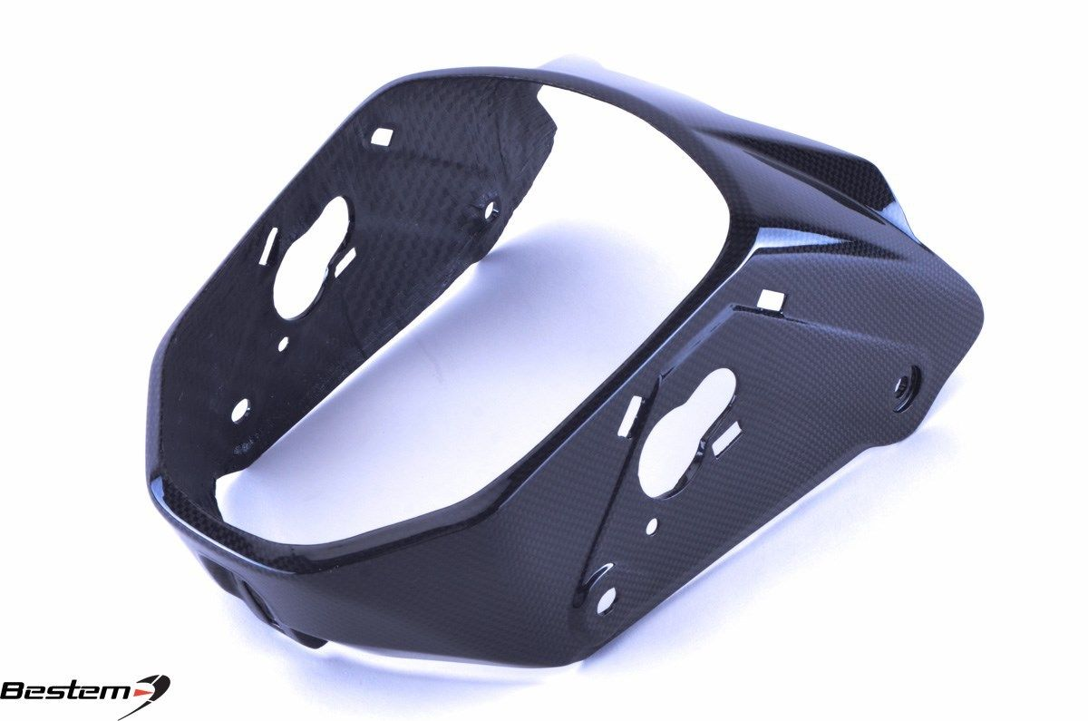 USバイク フェンダー カウル honda ホンダGromカーボンファイバーヘッドライトカバーボウル100% Honda Grom Carbon Fiber Headlight Cover Bowl 100%
