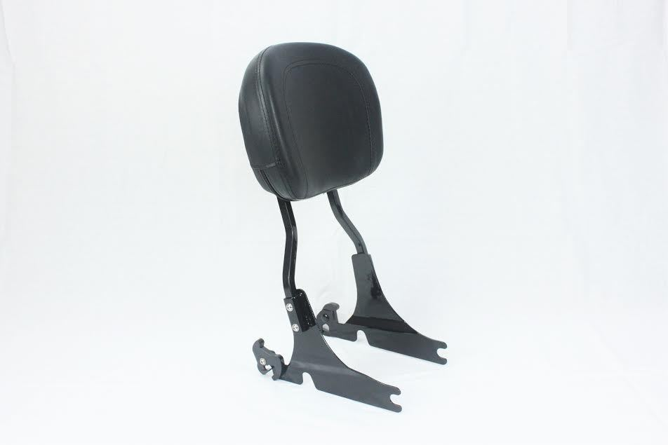 シーシーバー BLACK BACKREST SISSY BAR 4ハーレー・ソフテール・ヘリテージカスタム・デラックス・スプリンガーFLST BLACK BACKREST SISSY BAR 4 HARLEY SOFTAIL HERITAGE CUSTOM DELUXE SPRINGER FLST