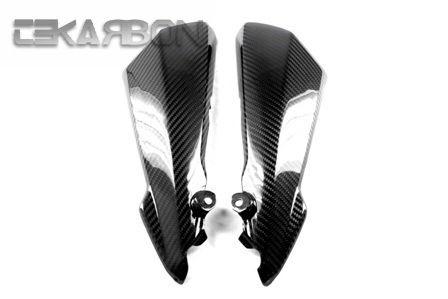 フェアリング suzuki 2011 - 2014 Suzuki GSR 750カーボンファイバーフロントパネル - 2x2ツイル織り 2011 - 2014 Suzuki GSR 750 Carbon Fiber Front Side Panels - 2x2 twill weaves