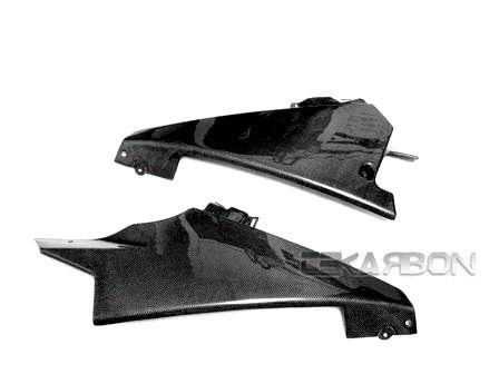 フェアリング suzuki 2007 - 2008スズキGSXR 1000炭素繊維下側フェアリング - 1x1平織 2007 - 2008 Suzuki GSXR 1000 Carbon Fiber Lower Side Fairings - 1x1 Plain weave