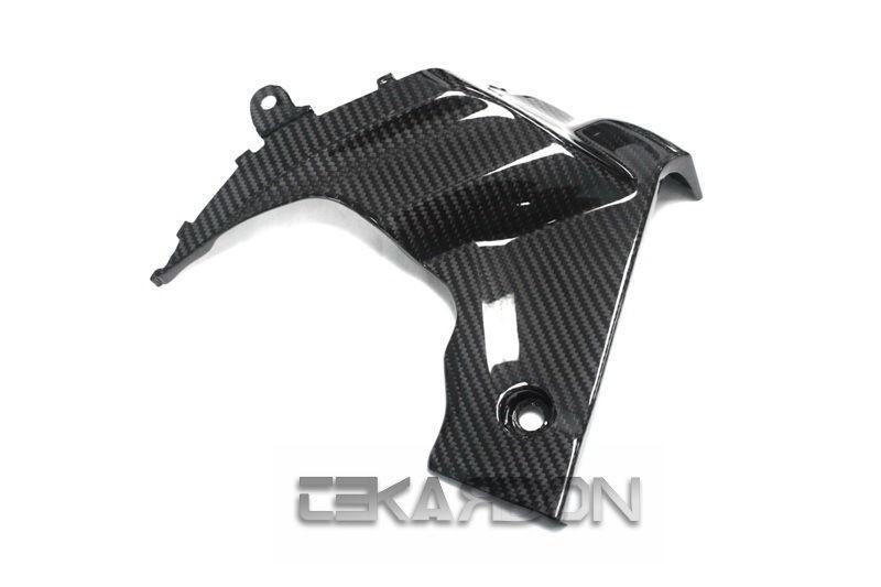 フェアリング suzuki 2009 - 2015スズキGSXR 1000カーボンファイバーサイドフェアリングパネルLH-2x2ツイル 2009 - 2015 Suzuki GSXR 1000 Carbon Fiber Side Fairing Panel LH - 2x2 twill