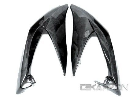 フェアリング suzuki 2008 - 2010スズキGSXR 600/750カーボンファイバーラージサイドフェアリング - 1x1プレーン 2008 - 2010 Suzuki GSXR 600 / 750 Carbon Fiber Large Side Fairings - 1x1 plain