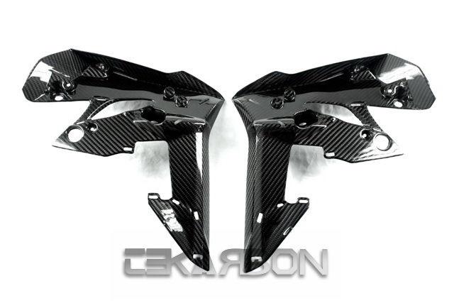 フェアリング suzuki 2011 - 2014スズキGSR 750カーボンファイバーフロントサイドフェア - 2x2ツイル織り 2011 - 2014 Suzuki GSR 750 Carbon Fiber Front Side Fairings - 2x2 twill weave