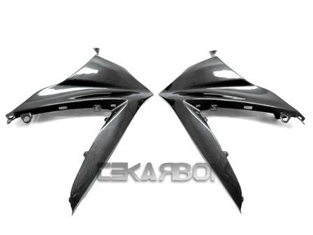 フェアリング suzuki 2007 - 2008スズキGSXR 1000カーボンファイバーアッパーサイドフェアリング - 1x1プレーンウィーブ 2007 - 2008 Suzuki GSXR 1000 Carbon Fiber Upper Side Fairings - 1x1 Plain Weave