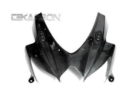 フェアリング suzuki 2008 - 2010スズキGSXR 600/750カーボンファイバーフロントフェアリング - 1x1平織り 2008 - 2010 Suzuki GSXR 600 / 750 Carbon Fiber Front Fairing - 1x1 plain weaves