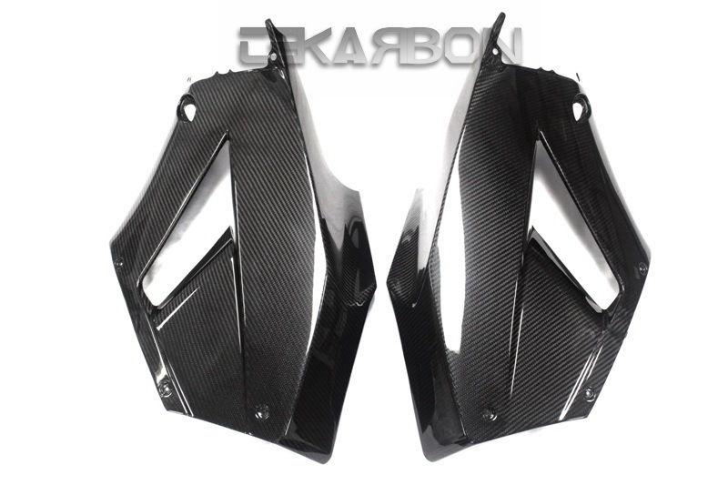 フェアリング honda 2013 - 2016ホンダCBR600RRカーボンファイバーラージサイドフェアリング - 2x2ツイル織り 2013 - 2016 Honda CBR600RR Carbon Fiber Large Side Fairings - 2x2 twill weave