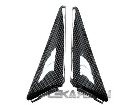 フェアリング honda 2008 - 2011 Honda CBR1000RRカーボンファイバーサイドパネル - 1x1平織り 2008 - 2011 Honda CBR1000RR Carbon Fiber Side Panels - 1x1 plain weaves