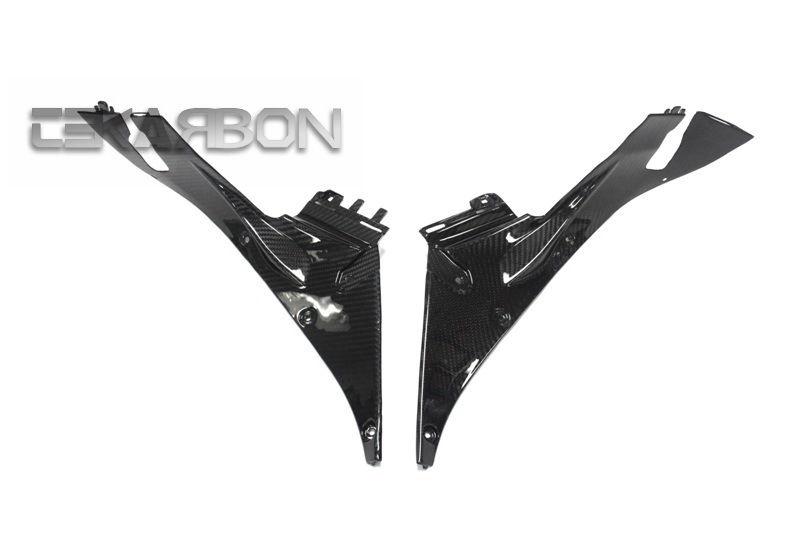 フェアリング honda 2013 - 2016ホンダCBR600RRカーボンファイバーロアーインナーサイドパネル - 2x2ツイル 2013 - 2016 Honda CBR600RR Carbon Fiber Lower Inner Side Panels - 2x2 twill