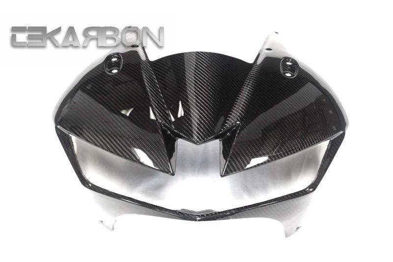 フェアリング honda 2013 - 2016ホンダCBR600RRカーボンファイバーフロントフェアリング - 2x2ツイル織り 2013 - 2016 Honda CBR600RR Carbon Fiber Front Fairing - 2x2 twill weave
