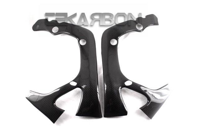 フェアリング honda 2007 - 2016 Honda CBR 600RRカーボンファイバーフレームカバー - 2x2ツイル織り 2007 - 2016 Honda CBR 600RR Carbon Fiber Frame Covers - 2x2 twill weave