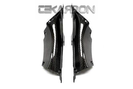 フェアリング honda 2012 - 2016ホンダCBR1000RRカーボンファイバーエアインテークカバー - 2x2ツイル織り 2012 - 2016 Honda CBR1000RR Carbon Fiber Air Intake Covers - 2x2 twill weaves