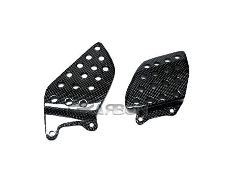 フェアリング honda 2004 - 2007ホンダCBR1000RRカーボンファイバーヒールプレート - 1x1平織り 2004 - 2007 Honda CBR1000RR Carbon Fiber Heel Plates - 1x1 plain weaves
