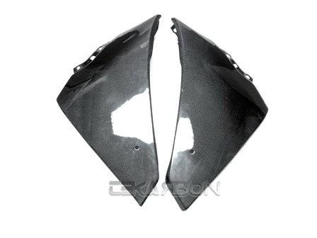 フェアリング yamaha 2009 - 2014ヤマハYZF R1カーボンファイバー下側フェアリング - 1x1平織り 2009 - 2014 Yamaha YZF R1 Carbon Fiber Lower Side Fairings - 1x1 plain weaves