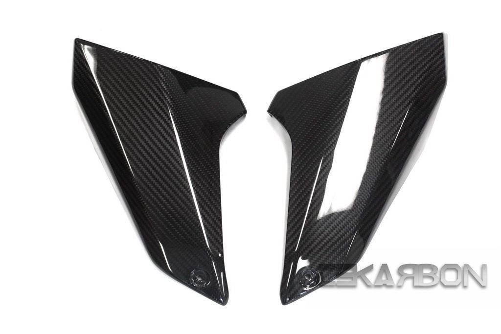 フェアリング yamaha 2014 - 2016ヤマハFZ09 MT09炭素繊維エアインテークカバー - 2x2ツイル織り 2014 - 2016 Yamaha FZ09 MT09 Carbon Fiber Air Intake Covers - 2x2 twill weave
