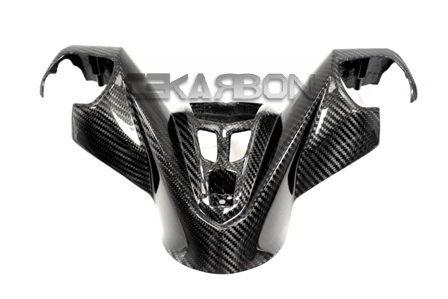 フェアリング yamaha 2012 - 2015ヤマハTmax 530カーボンファイバーセンターハンドルバーカバー - 2x2ツイル 2012 - 2015 Yamaha Tmax 530 Carbon Fiber Center Handle Bar Cover - 2x2 twill