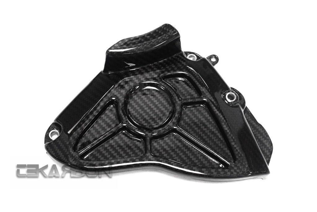 フェアリング yamaha 2015 - 2017ヤマハYZF R1炭素繊維スプロケットカバー - 2x2ツイル織り 2015 - 2017 Yamaha YZF R1 Carbon Fiber Sprocket Cover - 2x2 twill weaves