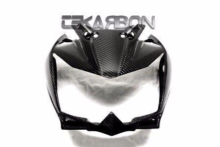 フェアリング kawasaki 2011 - 2012川崎Z750Rカーボンファイバーフロントフェアリング - 2x2ツイル織り 2011 - 2012 Kawasaki Z750R Carbon Fiber Front Fairing - 2x2 twill weaves