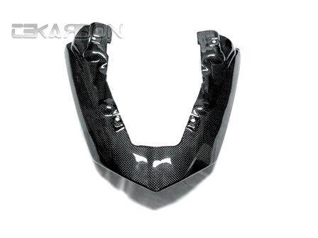 フェアリング kawasaki 2007 - 2008 Kawasaki ZX6Rカーボンファイバー排気カバー非通気型 - 1x1プレーン 2007 - 2008 Kawasaki ZX6R Carbon Fiber Exhaust Cover Non vented - 1x1 Plain