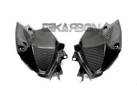 フェアリング kawasaki 2013 - 2014川崎Z800カーボンファイバーエアインテークカバー - 2x2ツイル織り 2013 - 2014 Kawasaki Z800 Carbon Fiber Air Intake Covers - 2x2 Twill weaves