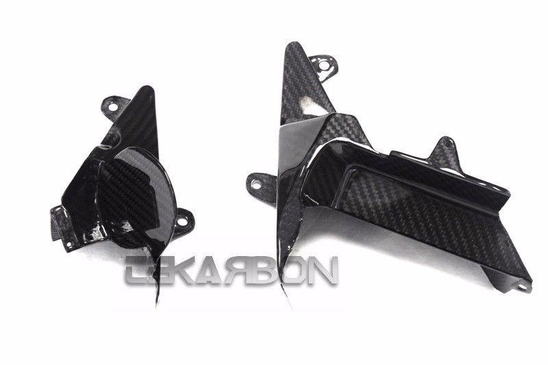 フェアリング kawasaki 2012 - 2016川崎ZX14Rカーボンファイバーミドルインナーサイドパネル - 2x2ツイル 2012 - 2016 Kawasaki ZX14R Carbon Fiber Middle Inner Side Panels - 2x2 twill