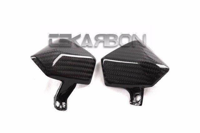 フェアリング kawasaki 2013 - 2016川崎Z800カーボンファイバーサイドパネル - 2x2ツイル織り 2013 - 2016 Kawasaki Z800 Carbon Fiber Small Side Panels - 2x2 Twill weave