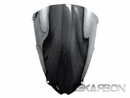 フェアリング kawasaki 2005 - 2006川崎ZX6R ZX 6Rカーボンファイバーウインドスクリーン - 1x1プレーン 2005 - 2006 Kawasaki ZX6R ZX 6R Carbon Fiber Windscreen - 1x1 Plain