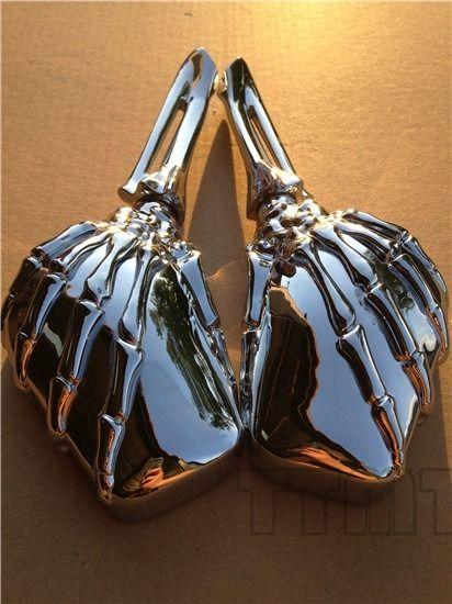 ミラー harley 新しいクロームスカルスケルトンミラーフィットスズキGsxr 600 750 1000はやぶさクルーザー New Chrome Skull Skeleton Mirrors Fit Suzuki Gsxr 600 750 1000 Hayabusa Cruiser