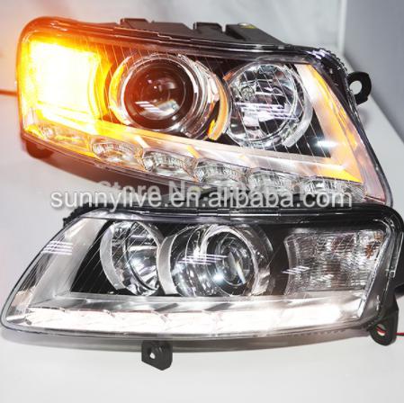 USヘッドライト[右ハンドル・日本仕様]Audi A6L 2005-2011用OEM LEDヘッドライト、D3S HIDキット OEM LED headlight for Audi A6L 2005-2011 WITH D3S HID kit