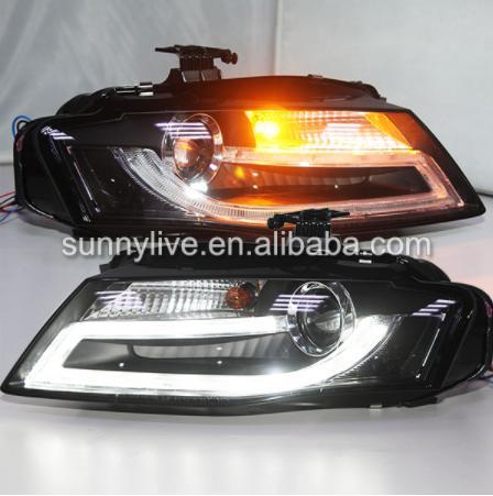 USヘッドライト[右ハンドル・日本仕様]アウディA4LB8 LEDフロントライトフィットのためにキセノンモデル2009-201 For Audi A4LB8 LED front light fit For Genuine car with Xenon model 2009-2012