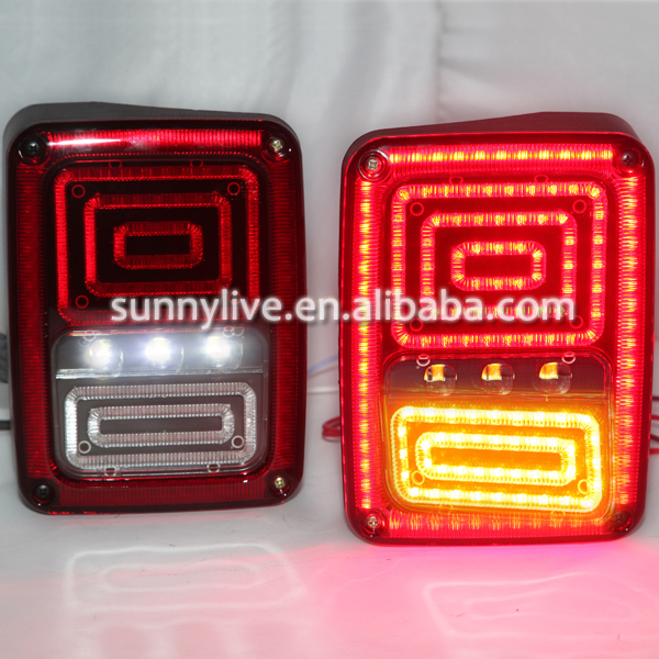USテールライト[右ハンドル・日本仕様]ジープ用ラングラー08-2015 ledリアライト赤For Jeep Wrangler For Jeep Wrangler 08-2015 led rear light red