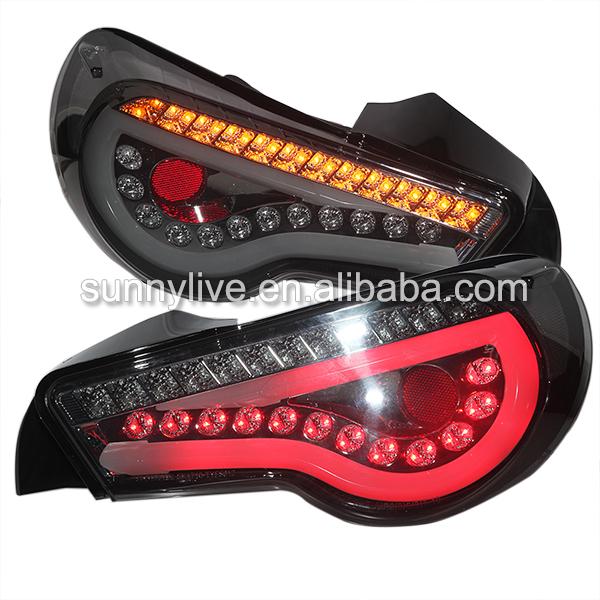 USテールライト[右ハンドル・日本仕様]スモークブラック トヨタ GT86 FT86 LEDストリップテールバックランプ201 Smoke Black GT86 FT86 LED Strip Tail Back Lamp 2013-2014 year Sn