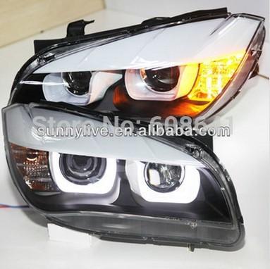 USヘッドライト[右ハンドル・日本仕様]E84 X1ヘッドランプLEDエンジェルアイ、BMW 2009-2014ハロゲン純正車 E84 X1 Head Lamp LED Angel Eyes For BMW 2009-2014 Original car with Halogen standard