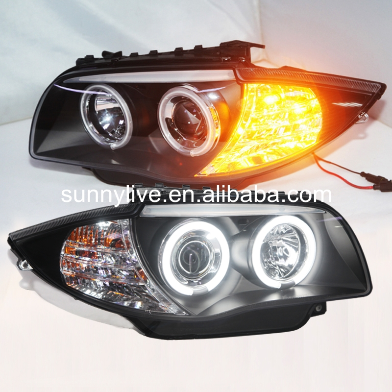 USヘッドライト[右ハンドル・日本仕様]BMW E87用120i 130iヘッドランプCCFL Angel Eyes 2006 For BMW E87 120i 130i Head Lamp CCFL Angel Eyes 2006-2011 year SN