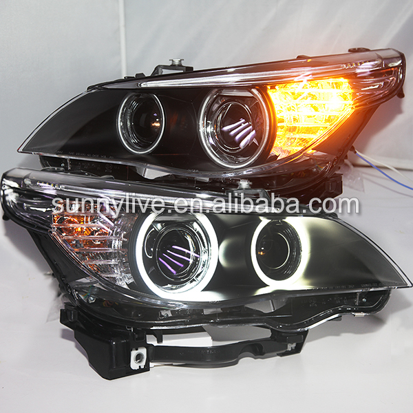 USヘッドライト[右ハンドル・日本仕様]E60 523i 525i 530iヘッドライトCCFL Angel Eyes 200 E60 523i 525i 530i Head Light CCFL Angel Eyes 2003-2005Year For BMW original car with D2S HID kit