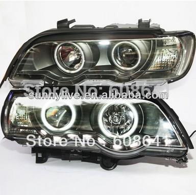USヘッドライト[右ハンドル・日本仕様]E53 X5ヘッドランプCCFL Angel Eyes For BMW 1999-20 E53 X5 Head Lamp CCFL Angel Eyes For BMW 1999-2003 year LF