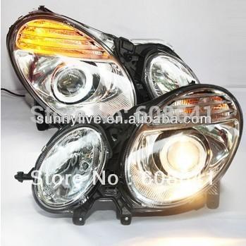 USヘッドライト[右ハンドル・日本仕様]2005-2009年W211 E200 E240 E280 E300 E320 E50 2005-2009 Year W211 E200 E240 E280 E300 E320 E500 Head Lamp Sliver Color LF