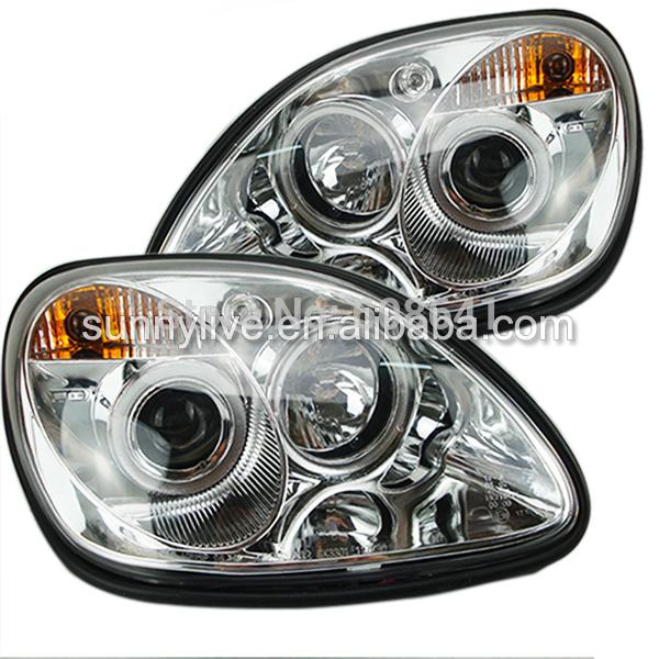 USヘッドライト[右ハンドル・日本仕様]R170 SLK200 SLK230 SLK350 LEDヘッドランプ(Mercede R170 SLK200 SLK230 SLK350 LED Head Lamp For Mercedes-Benz 1996-04 Chrome Color SN