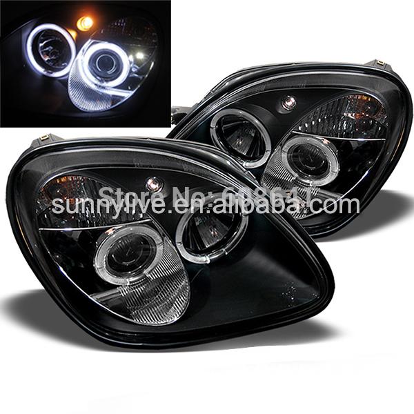 USヘッドライト[右ハンドル・日本仕様]R170 SLK200 SLK230 SLK350メルセデスベンツ用LEDヘッドランプ R170 SLK200 SLK230 SLK350 LED Head Lamp For Mercedes-Benz 1996-04 Black Housing