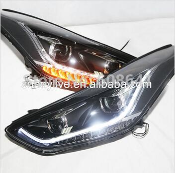 USヘッドライト[右ハンドル・日本仕様]HYUNDAI 2012-2013 elantra LEDストリップヘッドランプTLZ for HYUNDAI 2012-2013 year Elantra LED Strip Head Lamp TLZ