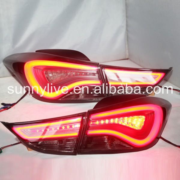 USテールライト[右ハンドル・日本仕様]Elantra LEDテールランプ(HYUNDAI用)All Smoke Black Elantra LED Tail Lamp For Hyundai All Smoke Black Color 2012-13 year Black WH