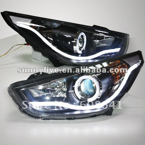 USヘッドライト[右ハンドル・日本仕様]ツーソンIX35 LEDヘッドランプエンジェルアイ、ヒュンダイ V1タイプ用Tucso Tucson IX35 LED Head Lamp Angel Eyes For HYUNDAI V1 Type