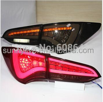 USテールライト[右ハンドル・日本仕様]ヒュンダイ 新型サンタフェIX45用LEDテールランプWHブラックスモークFor Hy For Hyundai New Santa Fe IX45 LED Tail lamp WH Black Smoke